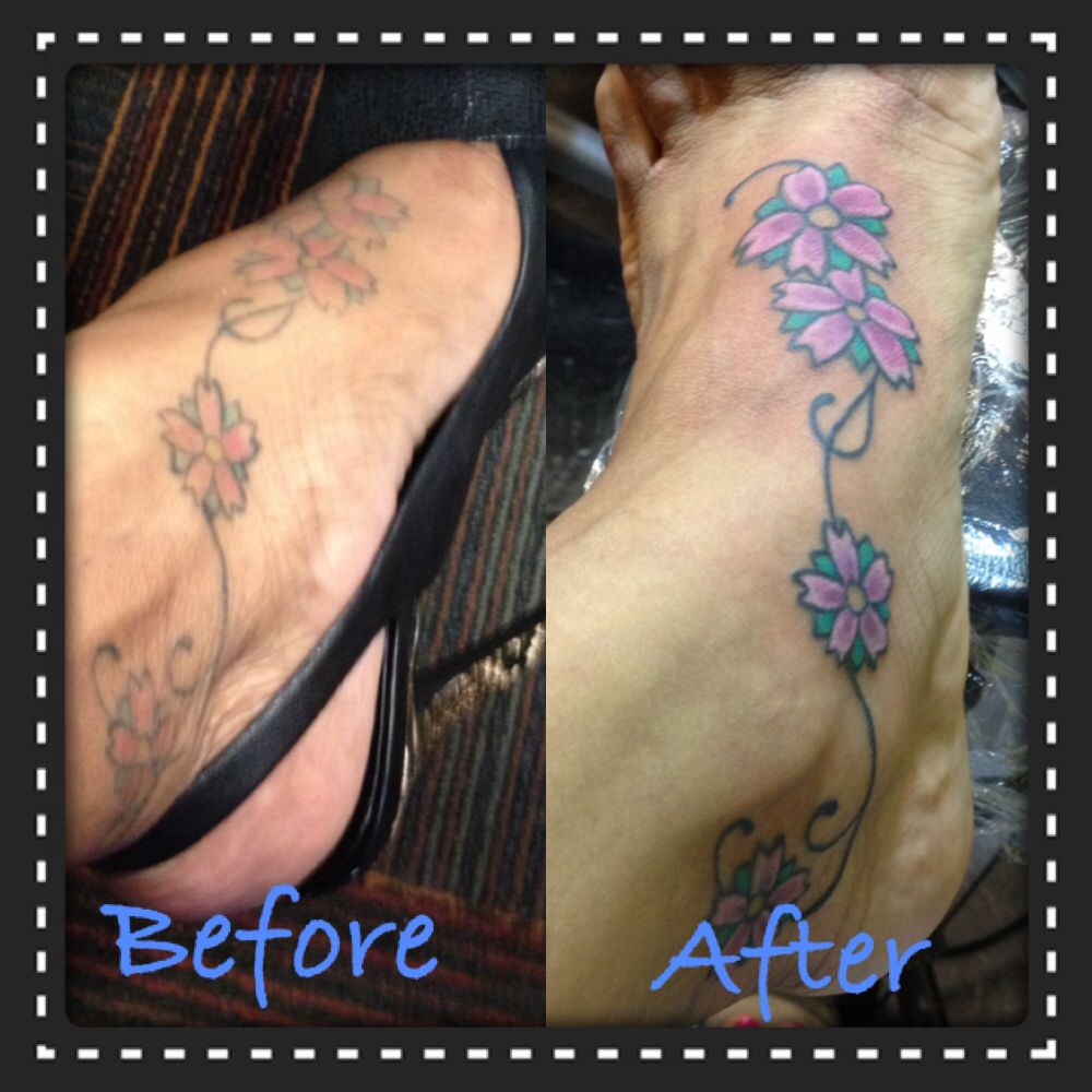 The retouch of my foot tattoo