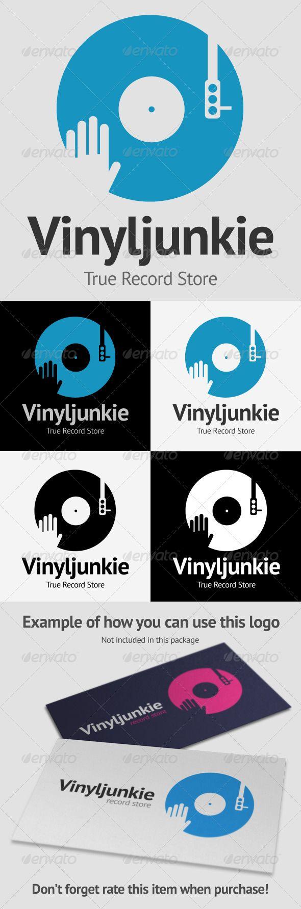 NICE - Scratch Vinyl DJ Logo #GraphicRiver A vector logo template ...