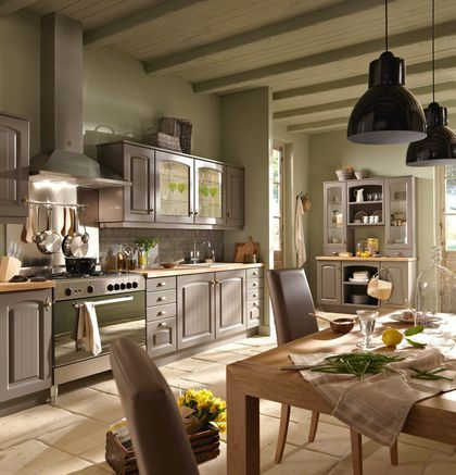 cuisine bistrot lapeyre darty aviva noire rouge pinterest cuisine bistrot flamand et. Black Bedroom Furniture Sets. Home Design Ideas