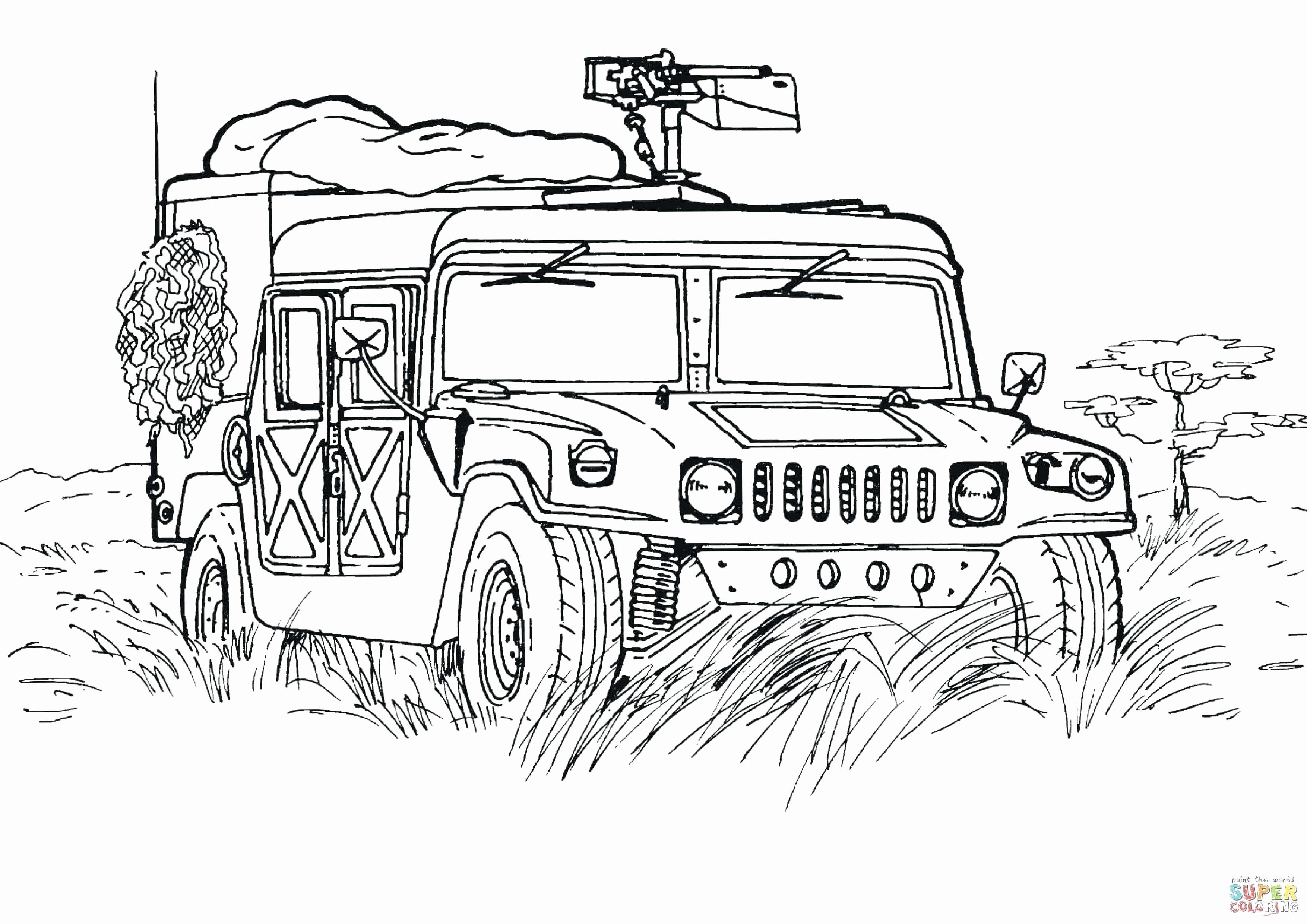 Free Coloring Pages Military Vehicles Elegant Printable