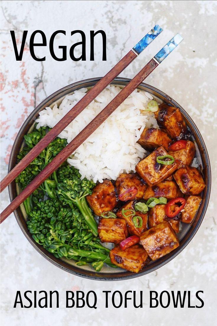 Vegan Chinese Food: Asian BBQ Tofu Bowl #chinesefood