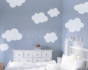Cloud Wall Decals Cloud Nursery Decor Cloud Wall Stickers