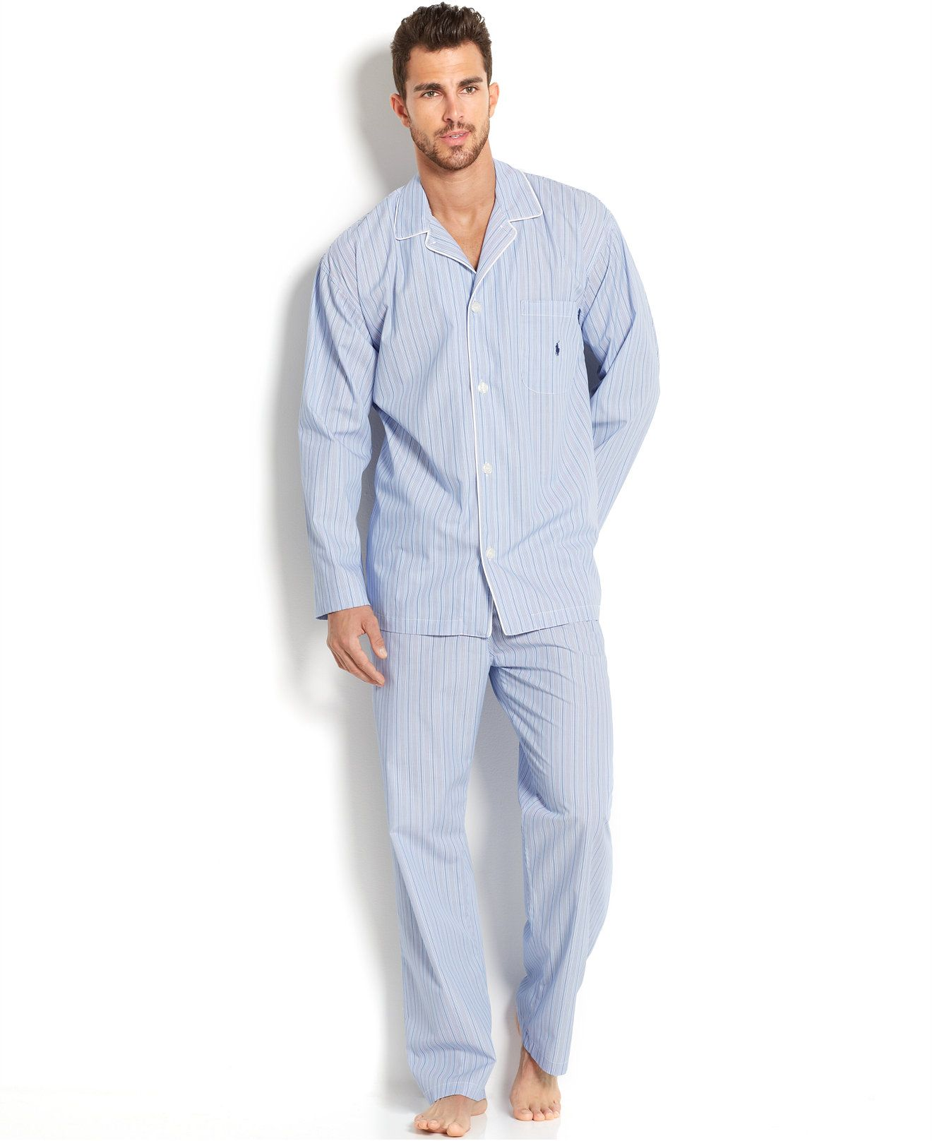 Yarn Weave 100% Cotton Pajama Set For Men Comfy Sleepwear Pajamas Mens Sexy Modern Style Soft Cozy Plus Size Nightgown Pyjamas Underwear & Sleepwears