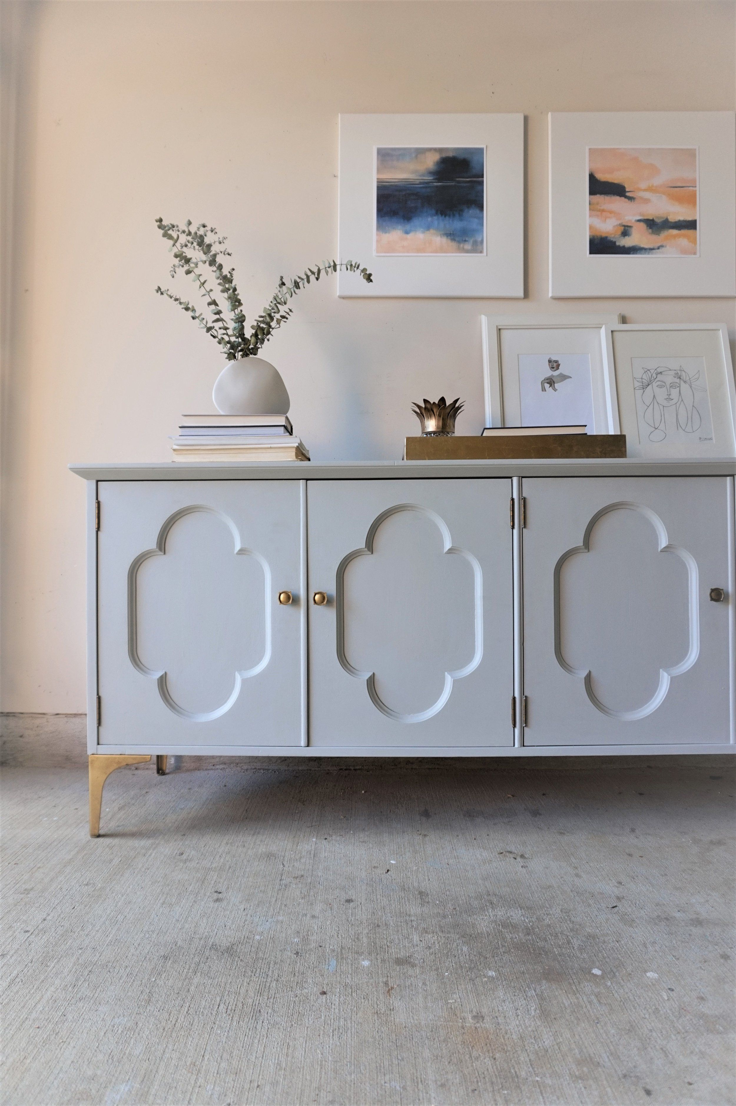 Quatrefoil Credenza A Collaboration With Modern South Stylemutt Home Your Home Decor Resource For All Breeds Of Style Resource Decor Home Decor Refinishing Furniture