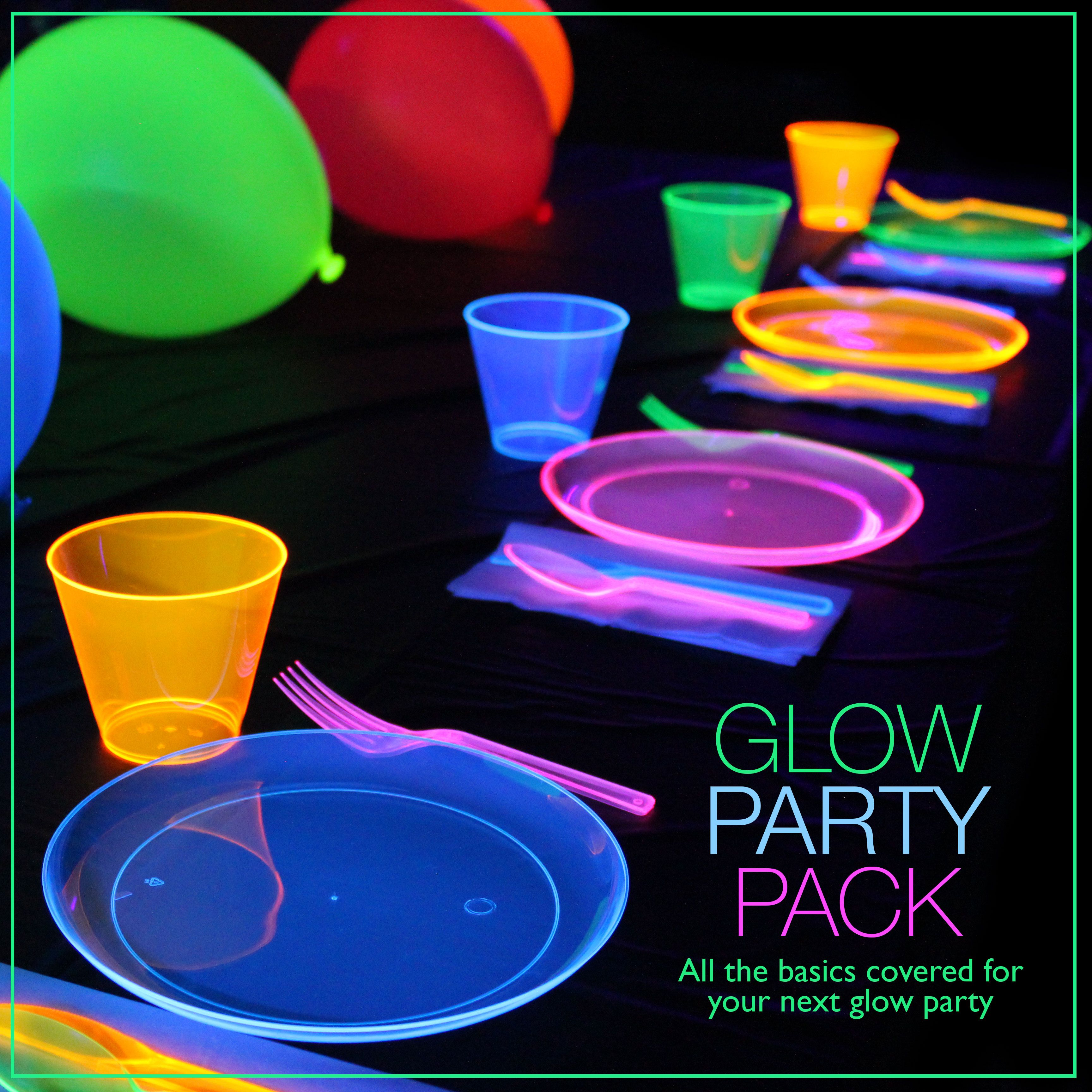 glow party pack | glow in the dark party ideas | glow in the dark