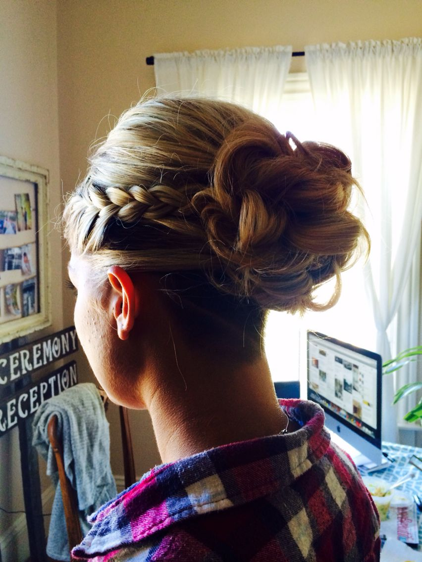 Bridesmaid Hair With An Undercut Hair Styles Bridesmaid Hair Wedding Hairstyles