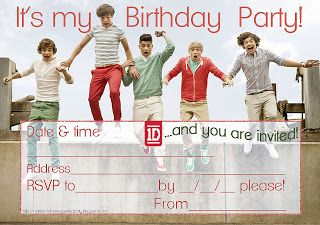 Invitations For Sleepover Party One Direction Party Free Printable Party Invitations Sleepover Party