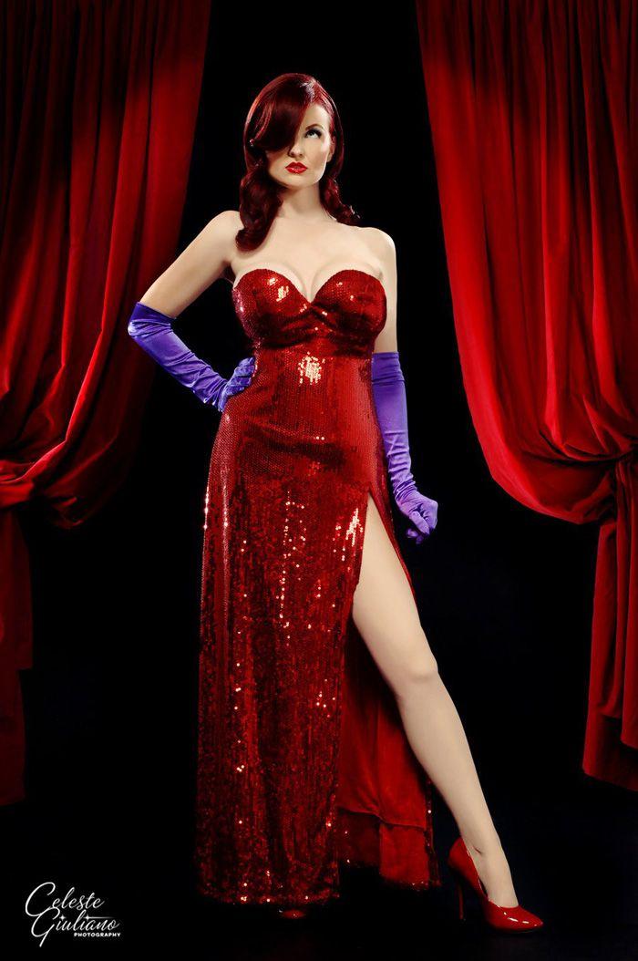 Red dress like jessica rabbit