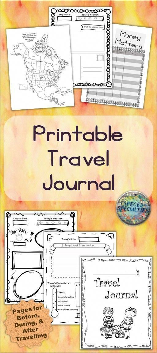 Travel Journal (Differentiated) -  PRINTABLE KIDS' TRAVEL JOURNAL includes pages for before, during, and after travels. Great for family vacations, end-of-year summer vacation gifts, homeschooling & roadschooling! Check it out! #travelfrases Source by ultimatebackpacker  -