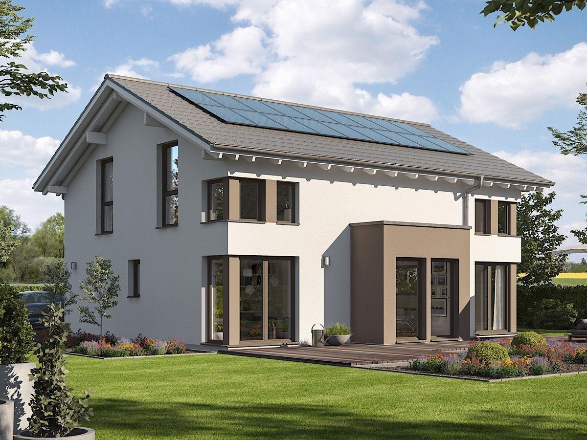 Modernes Haus klassisch mit Satteldach Architektur, Erker