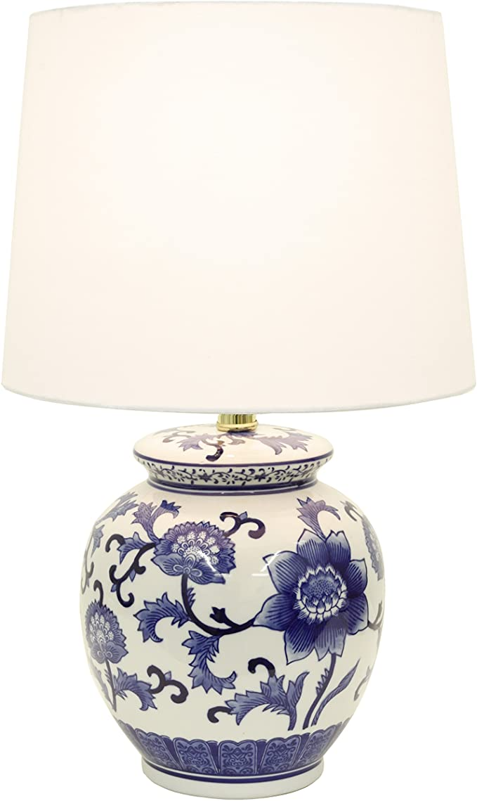 Decor Therapy Tl14119 Blue And White Ceramic Table Lamp Amazon Com Lamp Ceramic Table Lamps Ceramic Table