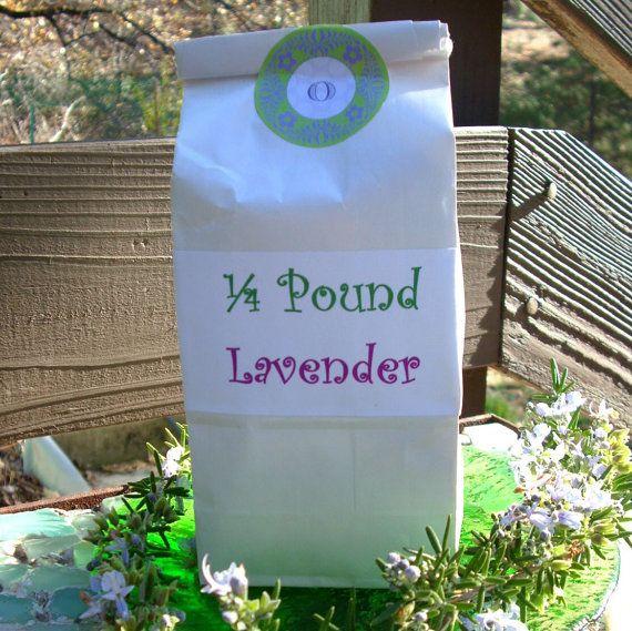 Lavender Flowers - Dried 1/4 lb. Loose Organic Farm Lavender via Etsy at Etsy/shop/OwensAcres