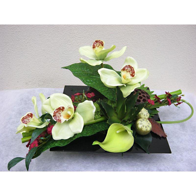 Envoyer un ami imprimer agrandir ensemble exotique o for Petites compositions florales pour table