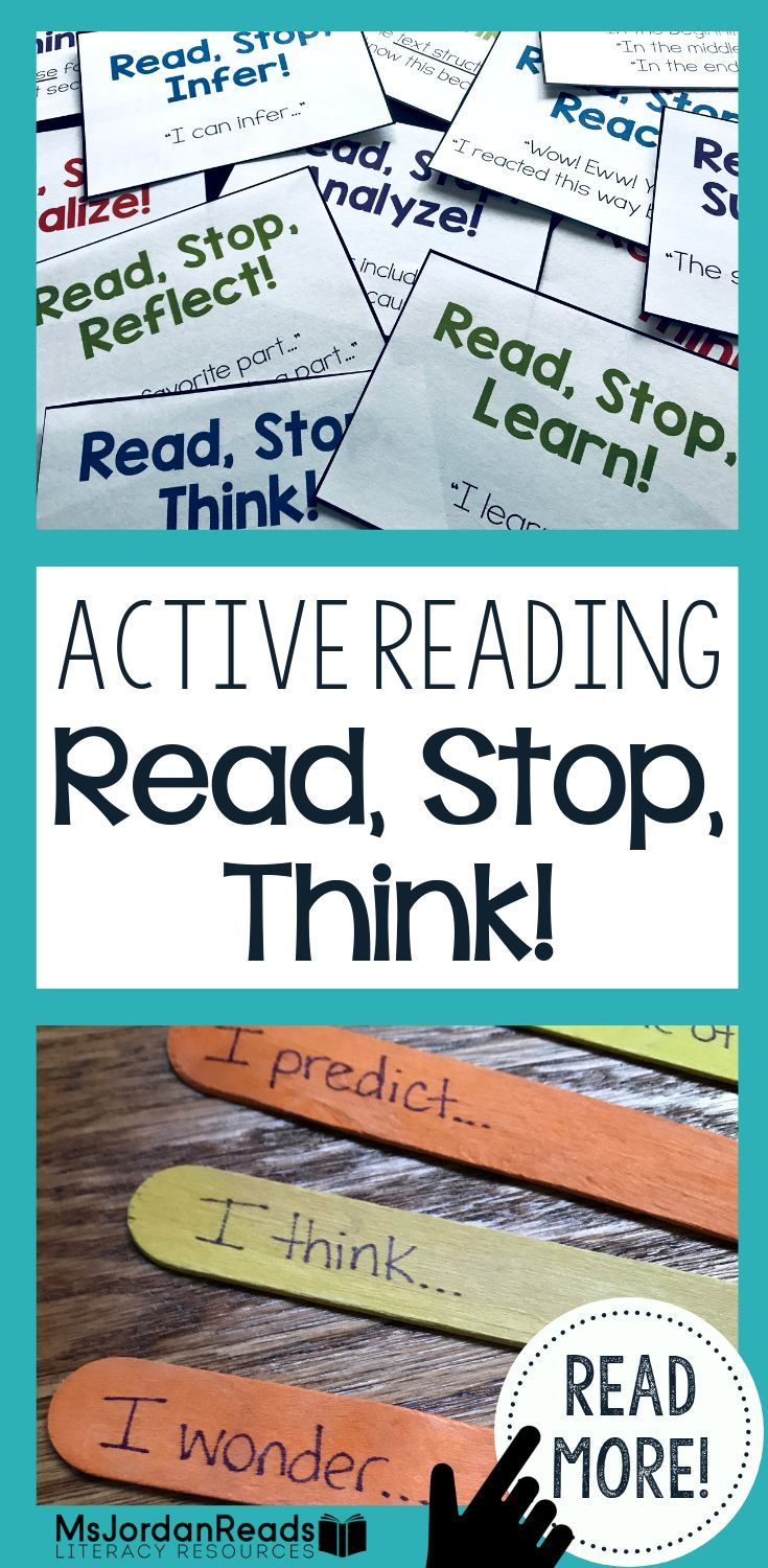 Read Stop Think A Strategy For Active Reading Active Reading Strategies Reading Strategies Reading Comprehension [ 1500 x 735 Pixel ]