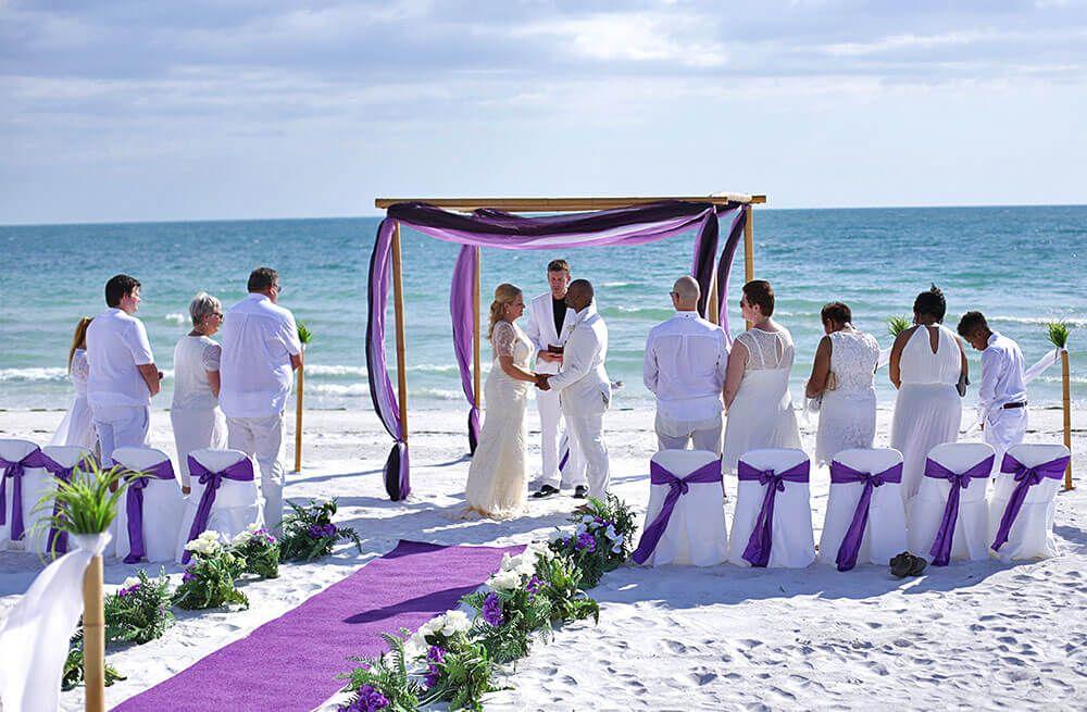 Purple White Beach Wedding Purple Beach Destination Wedding Purple Beach