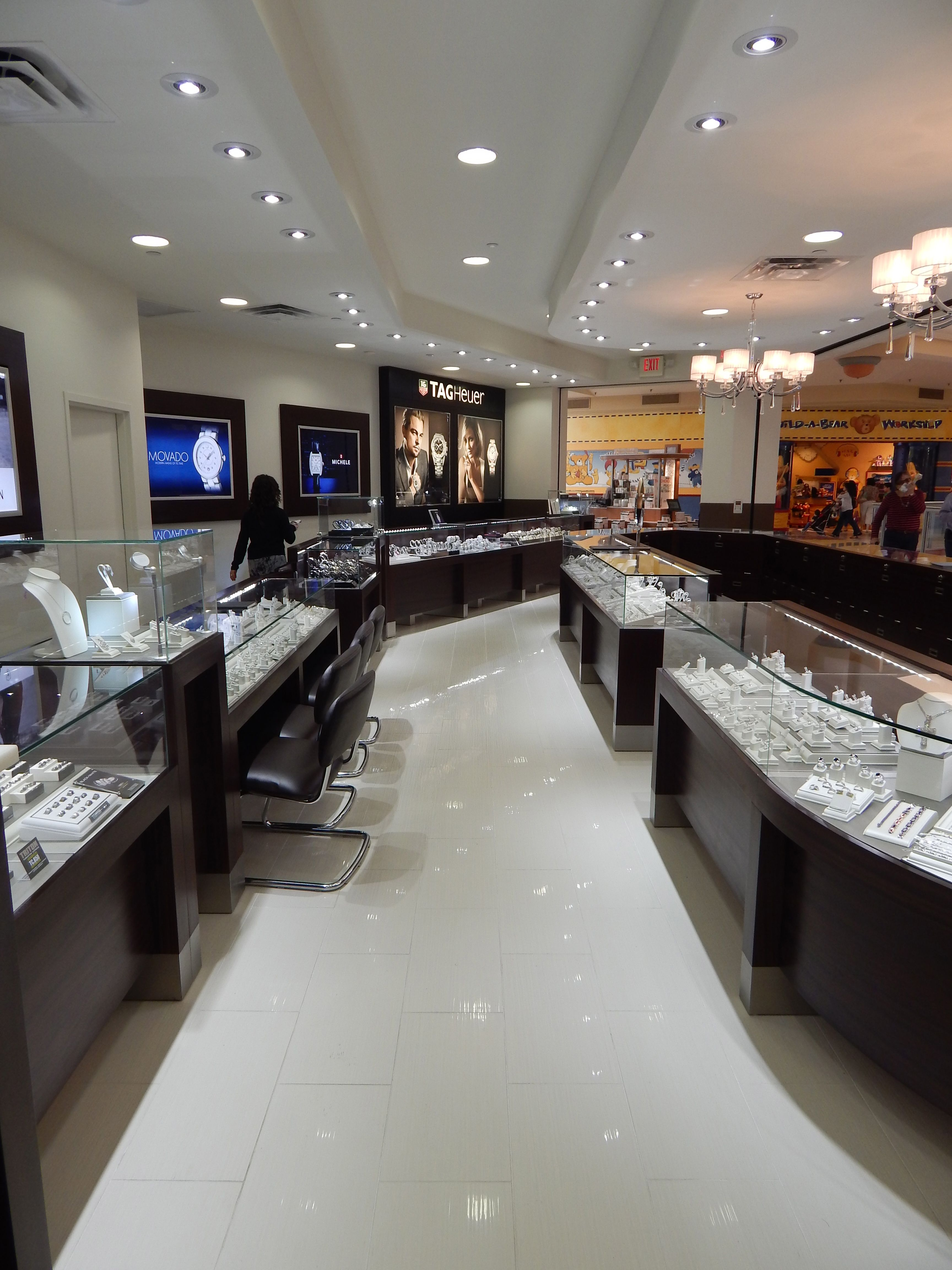 BRAND JEWELERS Manufacture & Design of Store Fixtures by Artco Group.  Proudly Made in America