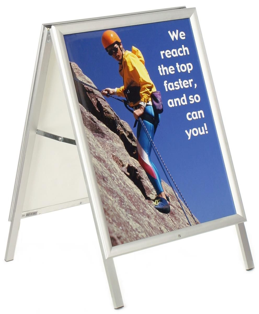 22 x 28 Sidewalk Sign for Posters, Hinged Edges, Double Sided ...