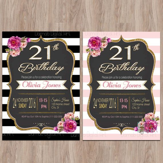 21st Birthday Invitations 21 Birthday Invitations Twenty First