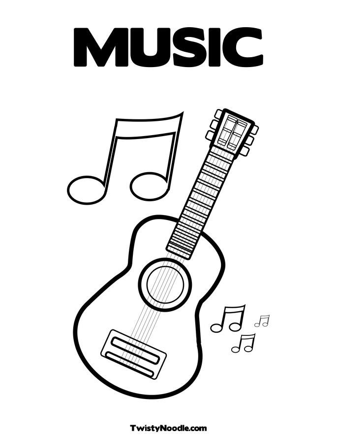 music coloring pages preschool - photo#2