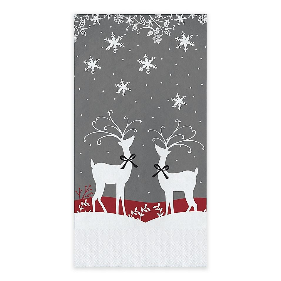 Reindeer Games 20 Count Paper Guest Towels Multi Paper Guest