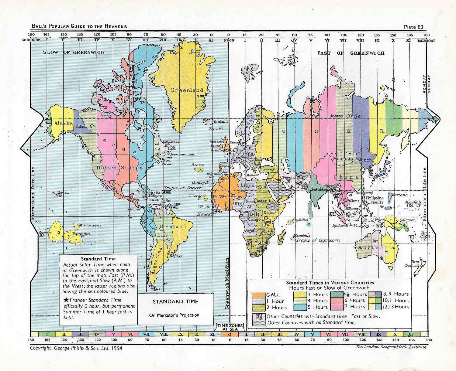 C Standard Time Map