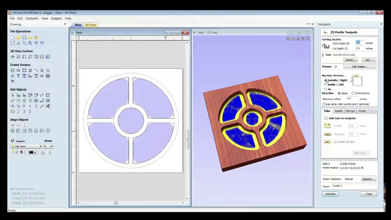 CNC ROUTER TIPS - How to Make Bowls in VCarve Pro