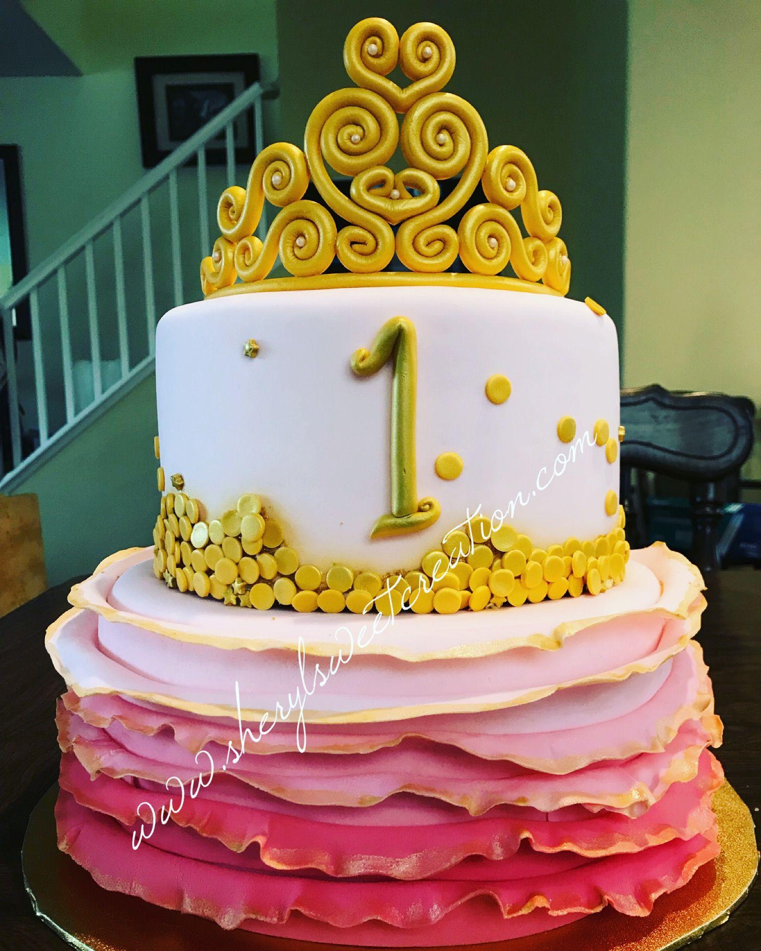 Pin by Brenda Terrell on dq cakes   Tiara cake, Cake, Desserts