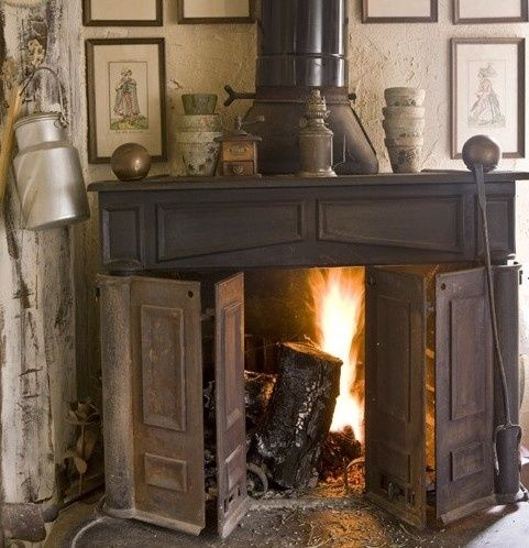 The Old Franklin My French Country Home Rustic Fireplaces Fireplace