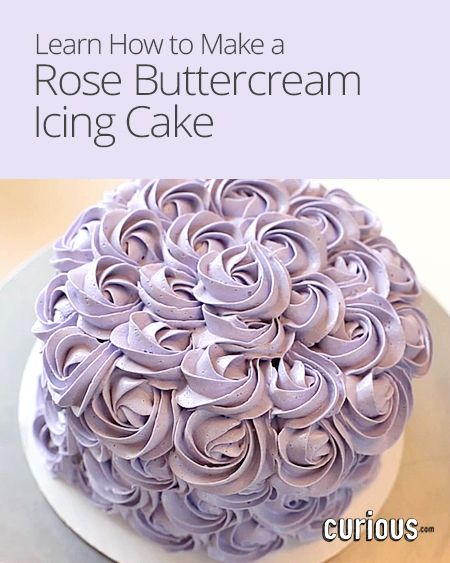 Rose Cakes Or Rosette Cakes Are So Easy To Make Learn How To Make One With Buttercream Frosting Using T Frosting Recipes Rosette Cake Buttercream Icing Cake