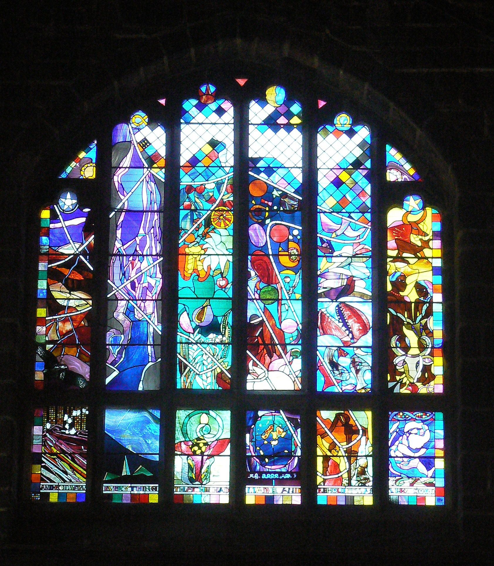 modern stained glass window chester cathedral refectory. Black Bedroom Furniture Sets. Home Design Ideas