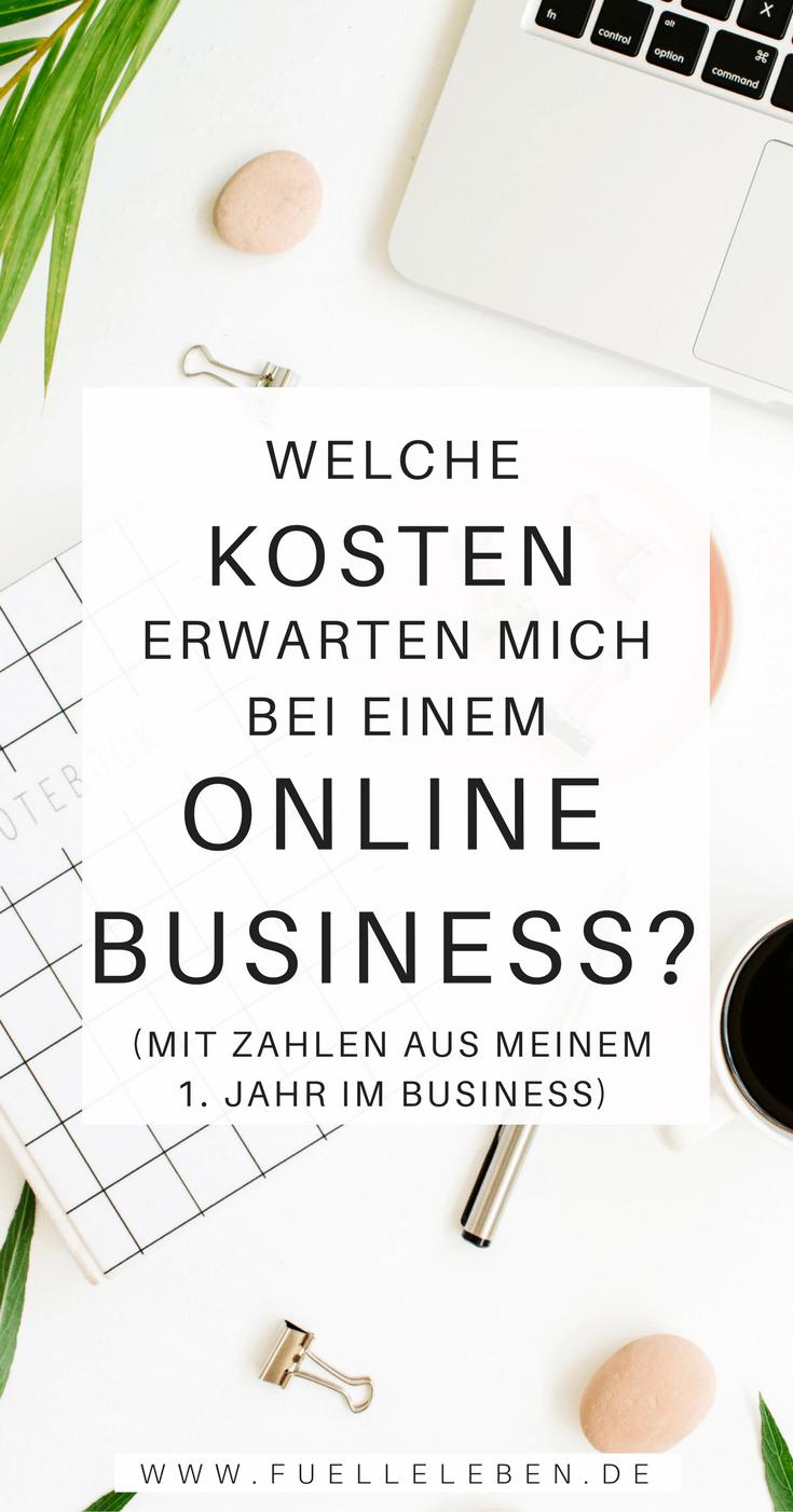 Die Kosten (m)eines Online Business | Fülle leben | Pinterest ...