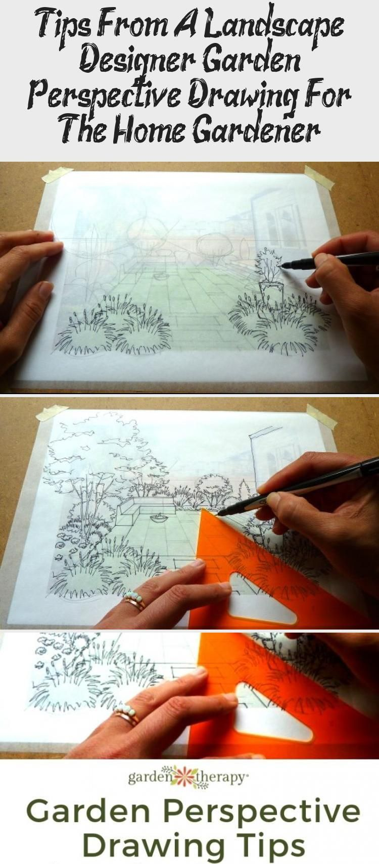 Tips From A Landscape Designer: Garden Perspective Drawing ...
