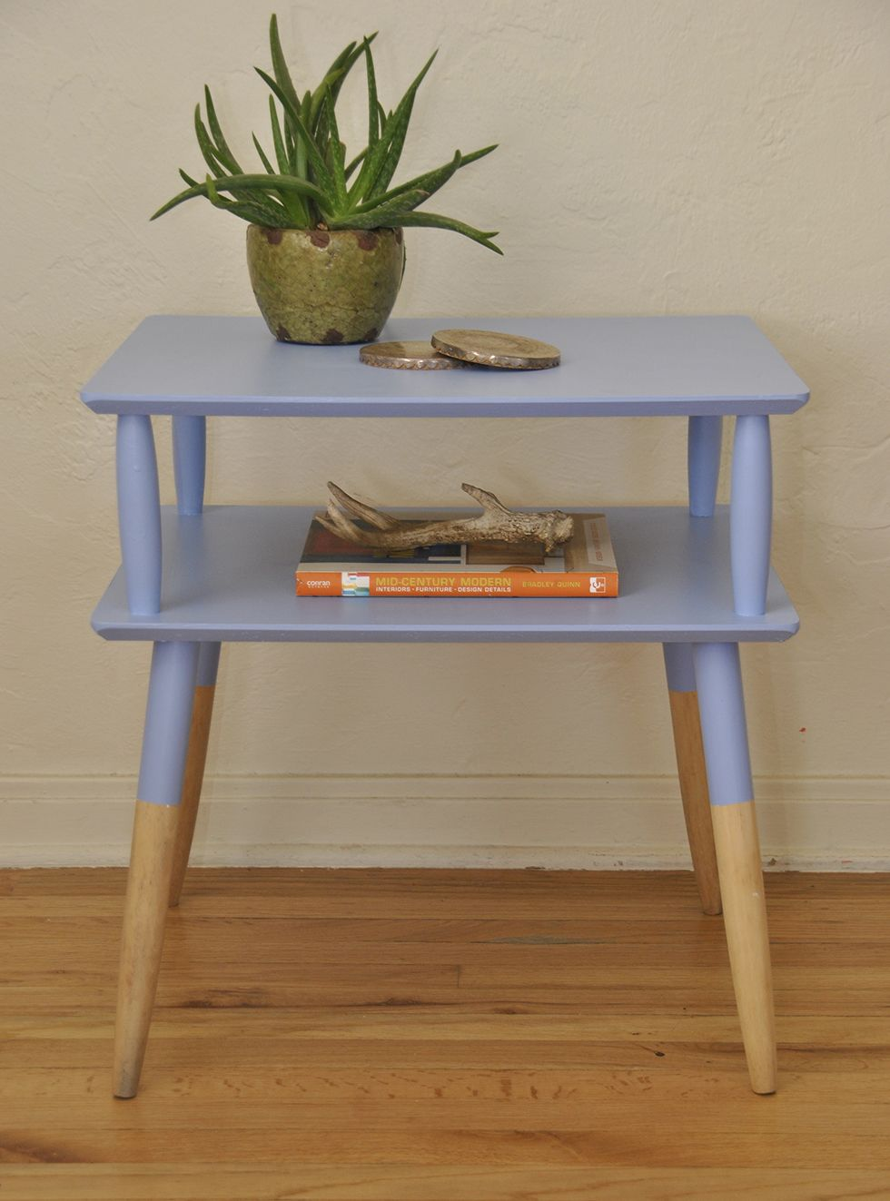 Vintage Mid Century Two Tier End Table Diy Tables