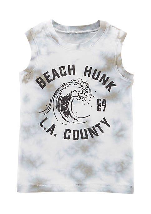 Carter's® Boys 4-8 Garment-Dyed Beach Hunk Tank