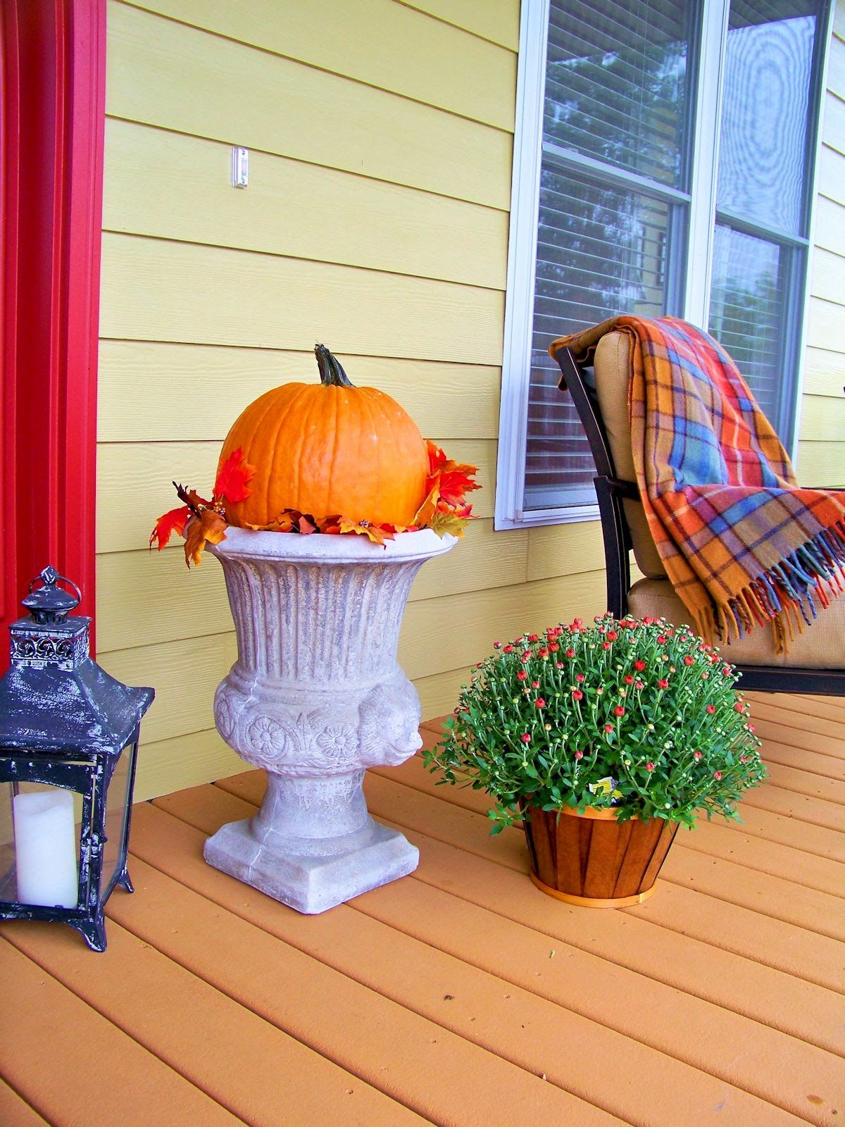 The Comforts Of Home Fall On The Porch  Cute