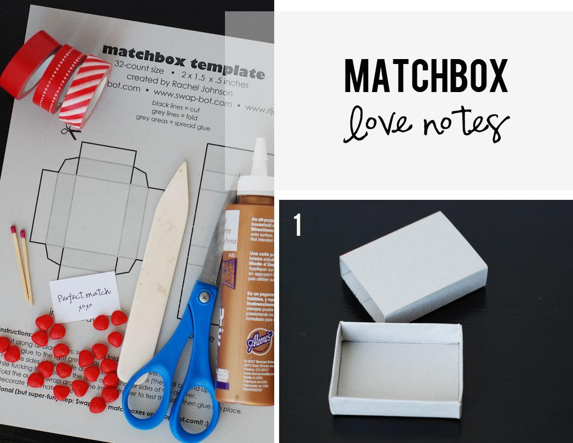 DIY Matchbox Love Notes for Valentine\'s Day | Note, Tutorials and ...