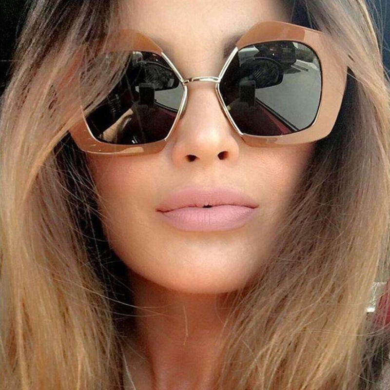 38e2f33a672 SUNLOVER 2017 New Euro Fashion Sunglasses Women Semi-Rimless Glasses Street  Fashion Eyewear