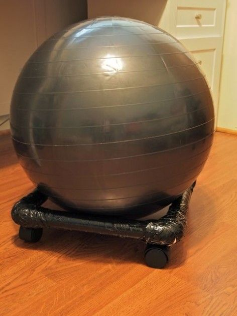 Make Your Own Exercise Ball Chair Its Perfect For Your Office And