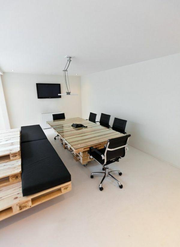 21 diy schreibtische aus europaletten geld sparen selber einrichten europalette. Black Bedroom Furniture Sets. Home Design Ideas