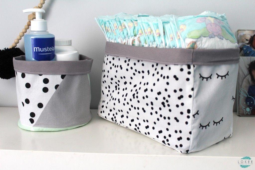 Univers Textile Fait Main Made In France Creations Fun For Kids Panier De Rangement Bebe Rangement Bebe Panier Rangement Tissu