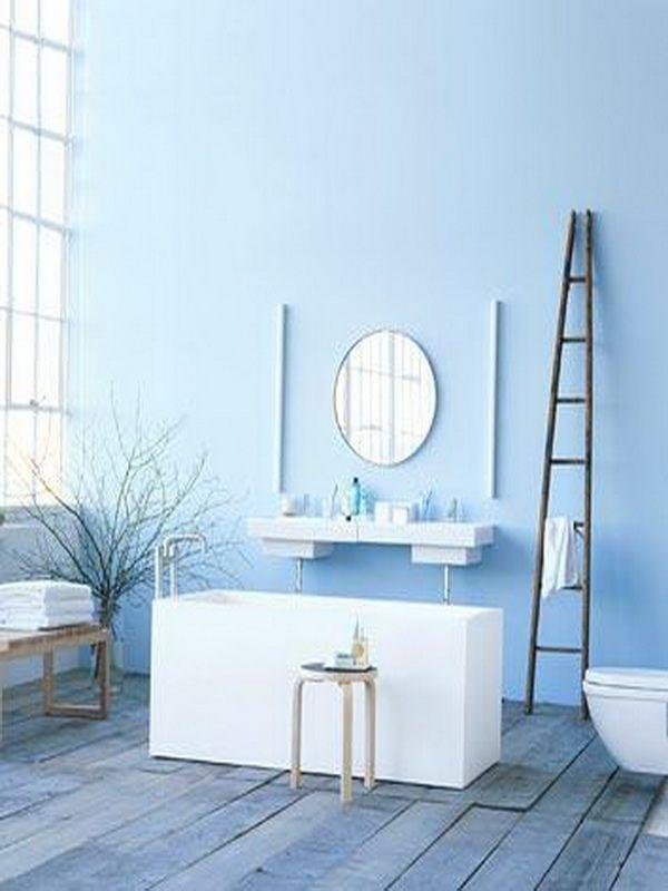 Light Baby Blue Paint Color For Vanities Blauwe Muren Modern