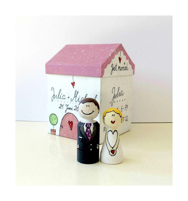 caketopper hochzeitsgeschenk brautpaar mit haus geschenke pinterest hochzeitsgeschenke. Black Bedroom Furniture Sets. Home Design Ideas