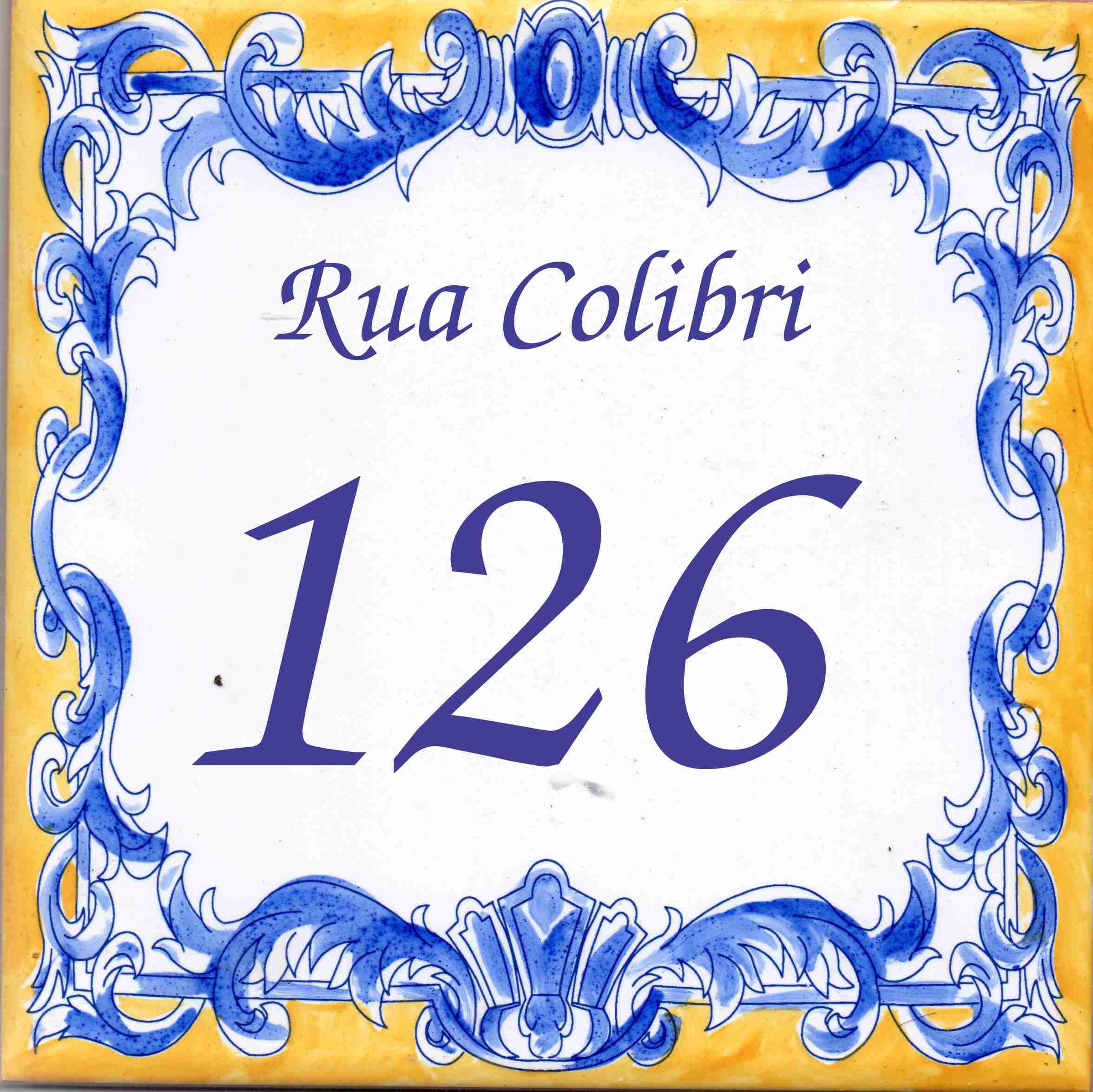 Nºmero para casa em azulejo estilo Portugues