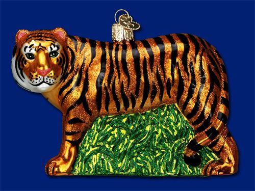 Tiger Glass Ornament Auburn Stuff Pinterest Tigers, Ornament