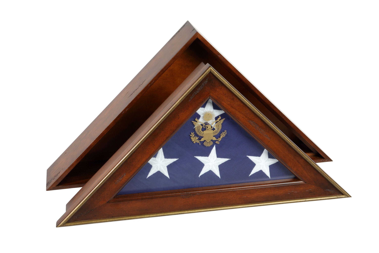 Five Star General Flag Case Antique Cherry Spartacraft
