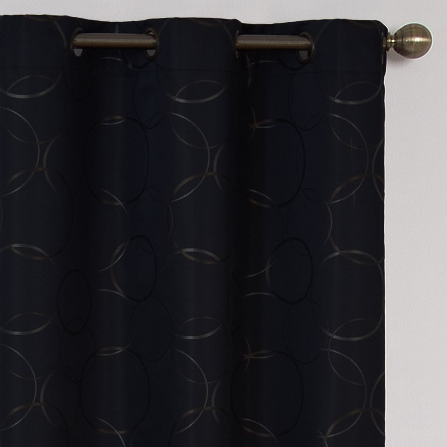 Eclipse Meridian 95 In Black Polyester Grommet Blackout Single