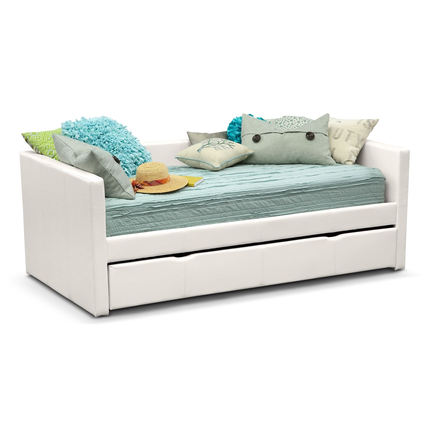carey twin daybed with trundle white daybed kids furniture and