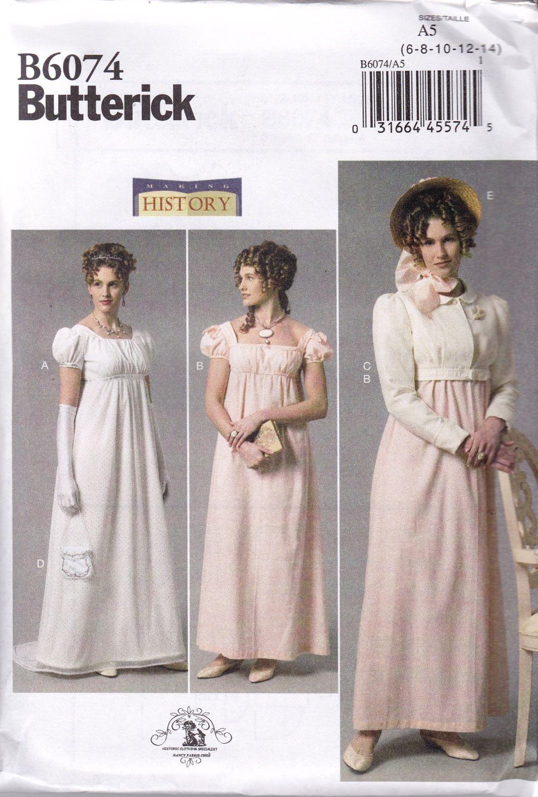 Butterick Sewing Pattern Misses\' Edwardian Downton Abbey Dress €6 ...
