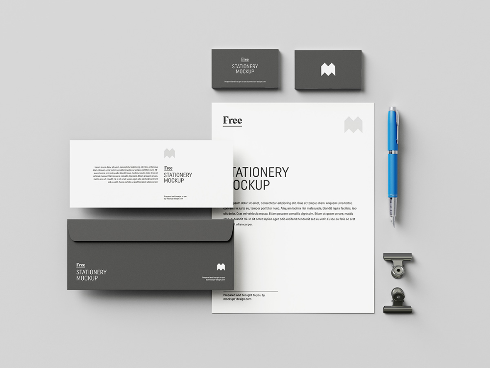 Free Us Stationery Mockup Mockups Design Stationery Mockup Stationery Mockup Free Design Mockup Free