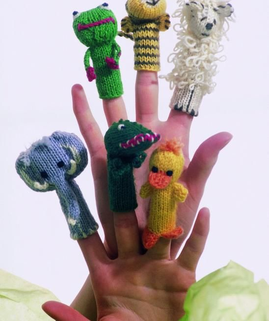 Animal Finger Puppets Free Knitting Pattern | Knitting and crochet ...